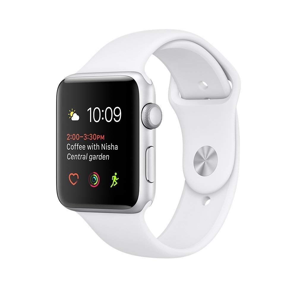 Apple Watch Series 2 42mm Silver Aluminum Case With White Sport Band If You Like Our Pins Check Out Buy Apple Watch Apple Watch Silver Cheapest Apple Watch