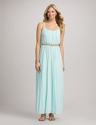 Dress barn blue beaded maxi dress