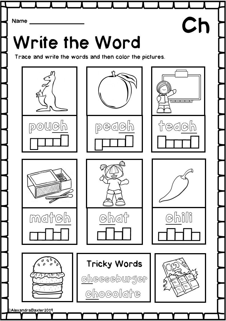 Ch Digraph Worksheets With Images Phonics Worksheets Digraph