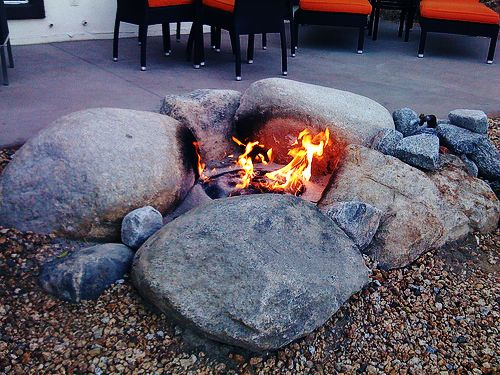 Landscaping Lincoln Ne Landmarklandscapes Us Natural Fire Pit Fire Pit With Rocks Fire Pit Backyard