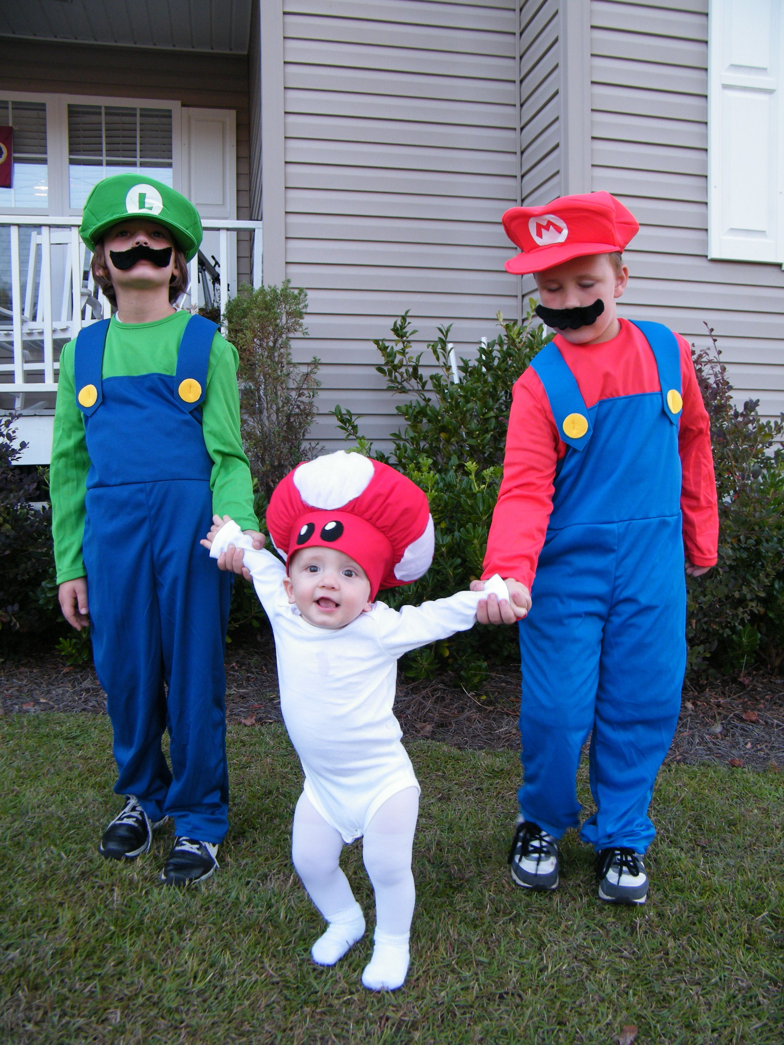 mario brothers costumes oh man my boys would love this i wonder
