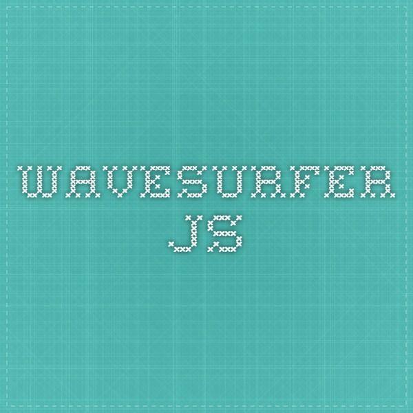 wavesurfer js Web Audio Waveform Visualizer | HTML5 and More