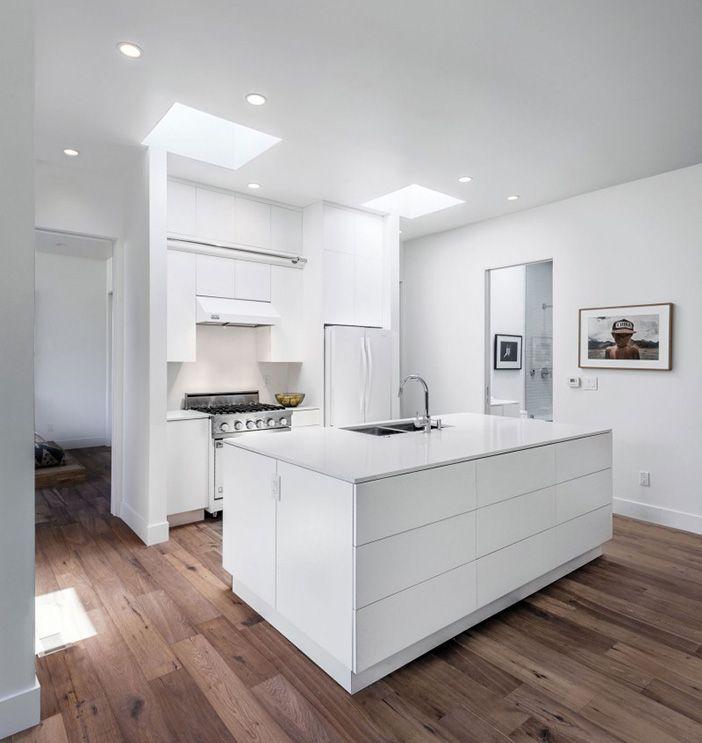 cocina moderna blanca cocinas modernas cocinas blancas On azulejos para cocinas blancas