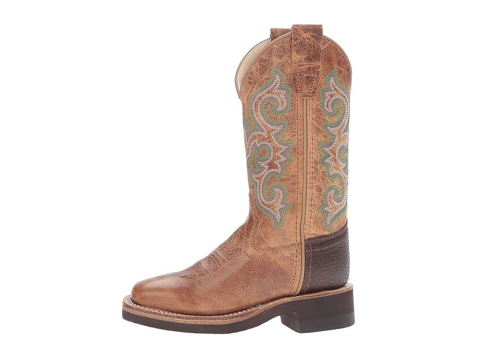Old West Kids Boots Square Toe Crepe Sole Tan Fry (Toddler/Little ...