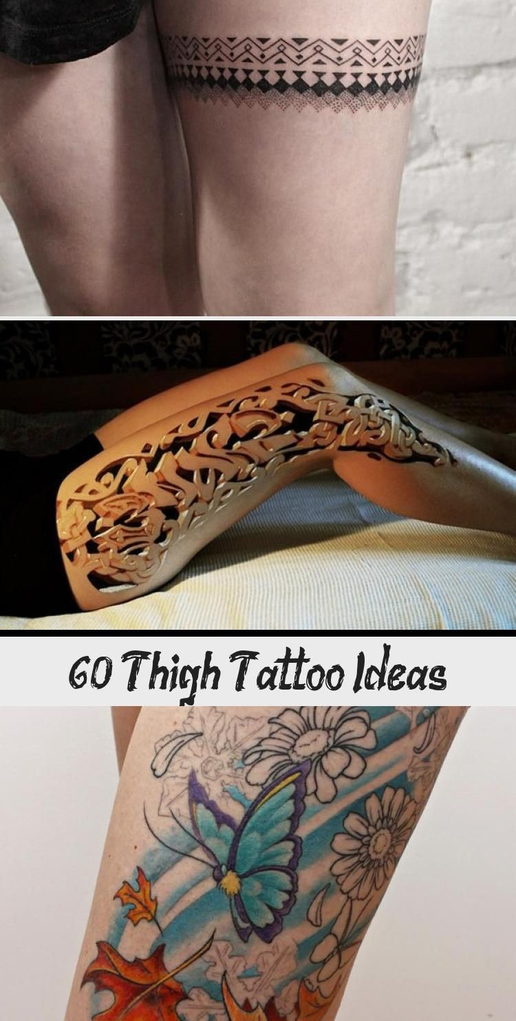 Photo of 55 Thigh Tattoo Ideas #ornamentaltattooSmall #ornamentaltattooChest #Simpleornam…