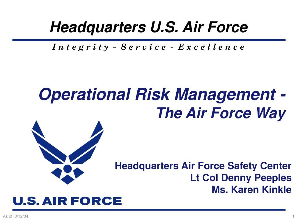 The Inspiring Ppt Operational Risk Management The Air Force Way In Air Force Powerpoint Templat Risk Management Business Plan Template Powerpoint Templates