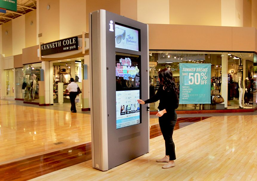 Interactive Kiosk In A Shopping Mall Disruptiveretail