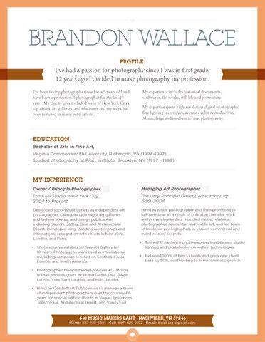 Loft Resumes - modern resume design graphics Resume templates