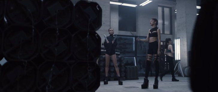 """Pin for Later: See Every Fierce Look From Taylor Swift's """"Bad Blood"""" Music Video  Platforms for days."""