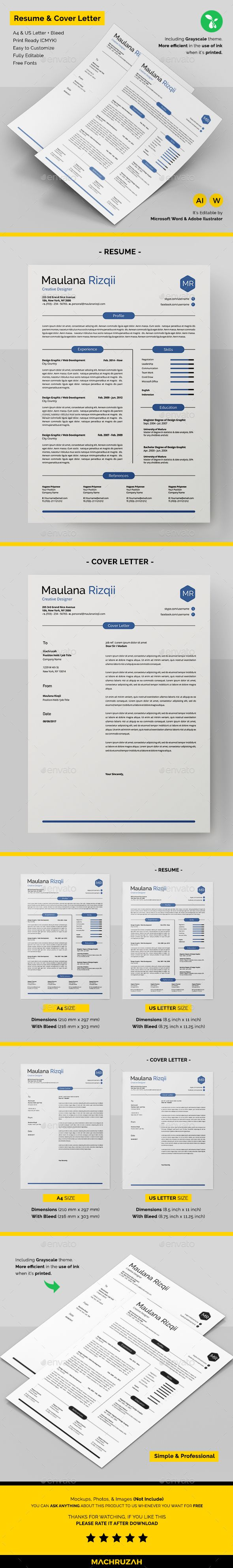 resume template ai illustrator  ms word