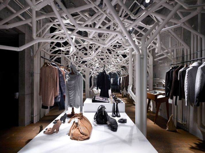 Store Design Ideas and a clothing store japan idea have bars pushed aside on Interior Design Retail Store Design Ideas