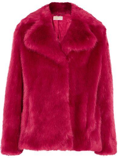 Michael Kors Faux Fur Coat, Red Faux Fur Coat Uk