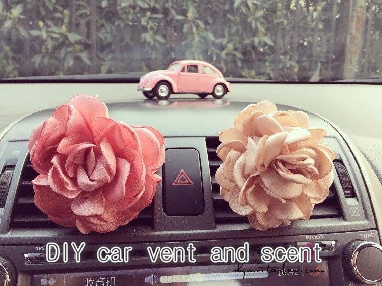 How to DIY a bling car vent and the perfect car's scent