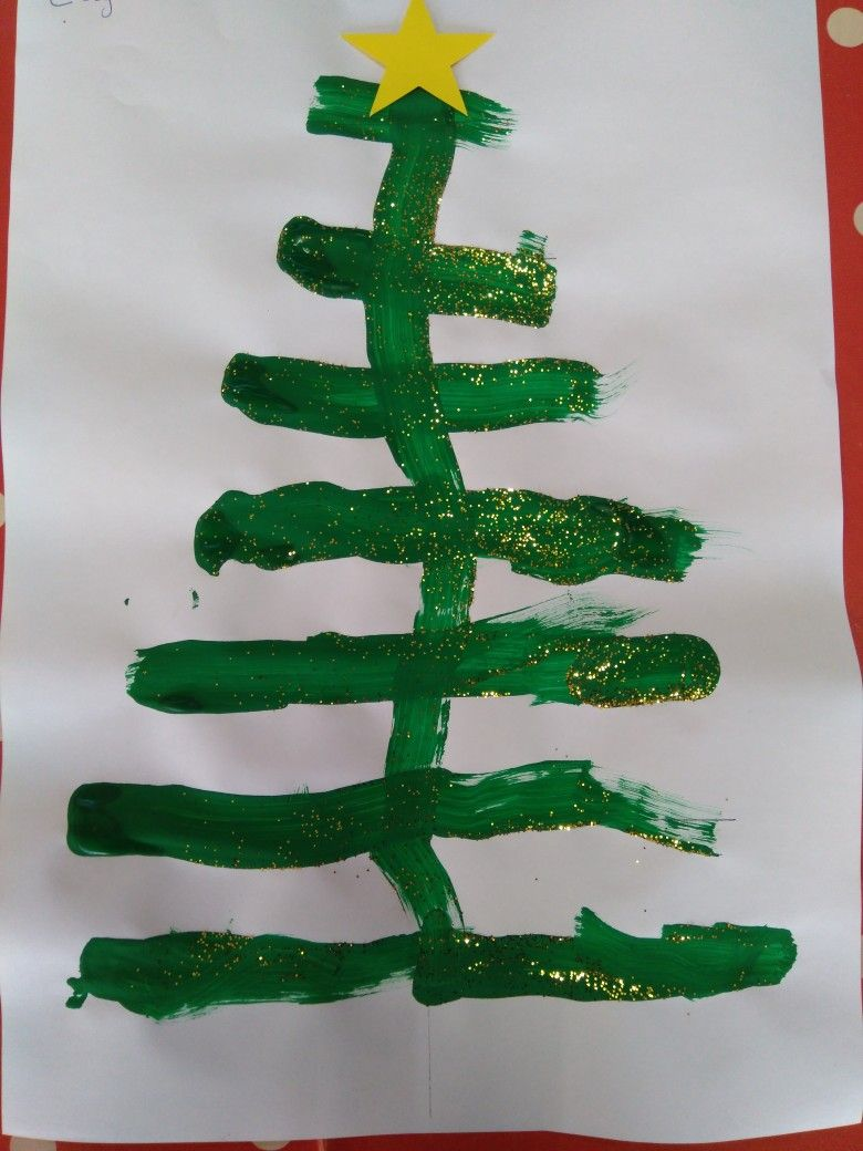 Kerstboom Schilderen Op Een Lijn Versieren Met Glitters En Met Een Piek Liestr Kerst Knutselen Kerstmis Knutselen Kerstmis