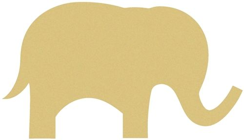 Cute Elephant Unfinished Cutout Wooden Shape Paintable Mdf Craft