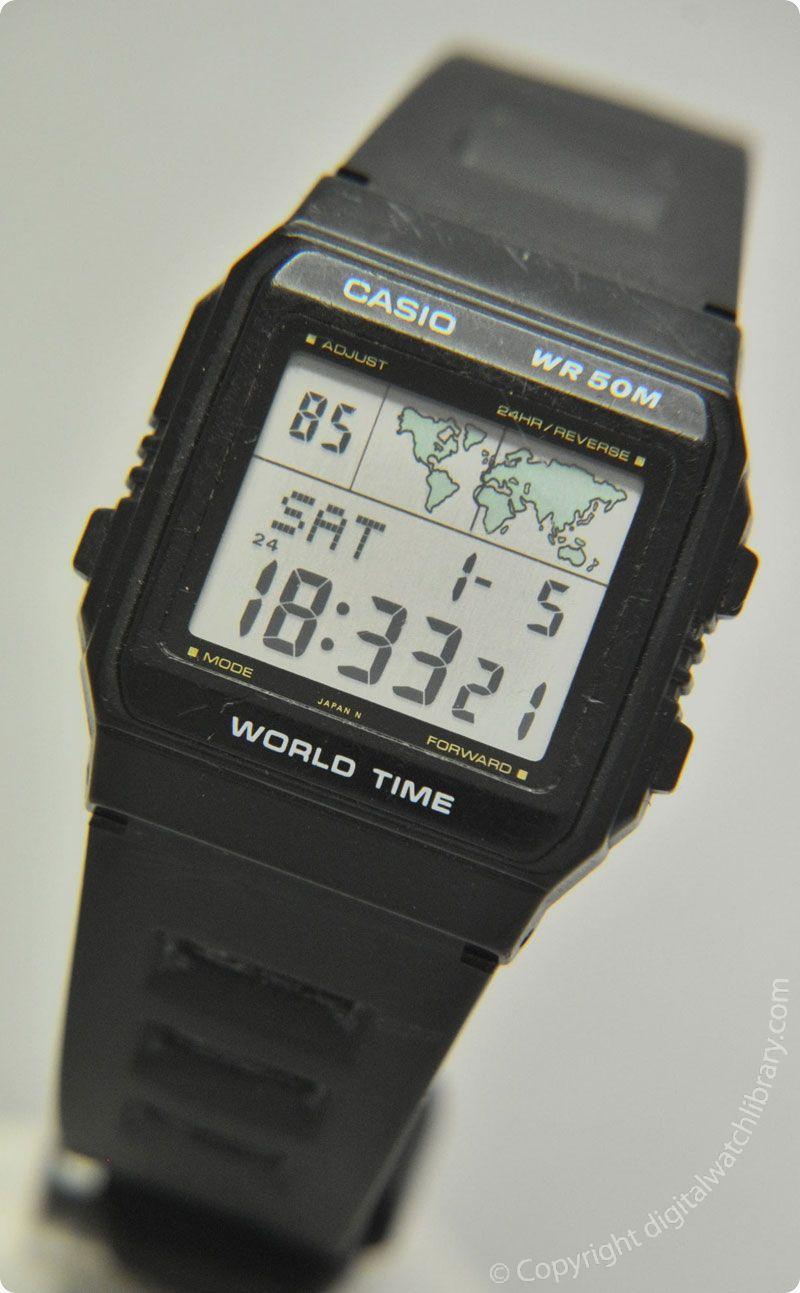CASIO - W-50U - WorldTime - Vintage Digital Watch - Digital-Watch ... e4f87378c5c