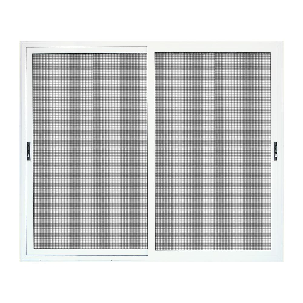 Unique Home Designs 72 In X 80 In White Sliding Ultimate Security Patio Screen Door With Meshtec Screen 5v0000kl0wh00p The Home Depot Patio Screen Door Unique House Design Screen Door