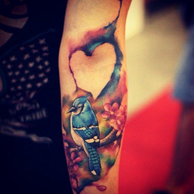 Bluejay Tattoo Love Watercolor Tattoo Like Heart Best