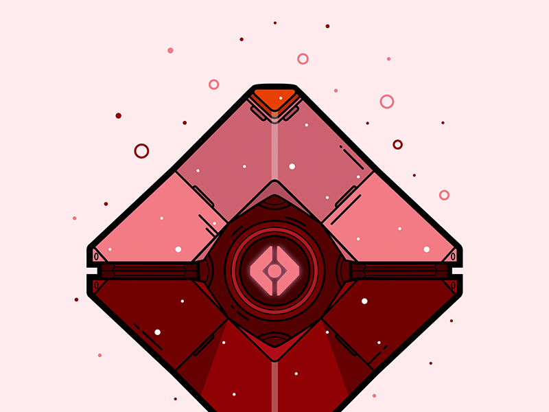 Destiny Crimson Ghost Shell Vector Illustration Ghost In The Shell Vector Illustration Illustration