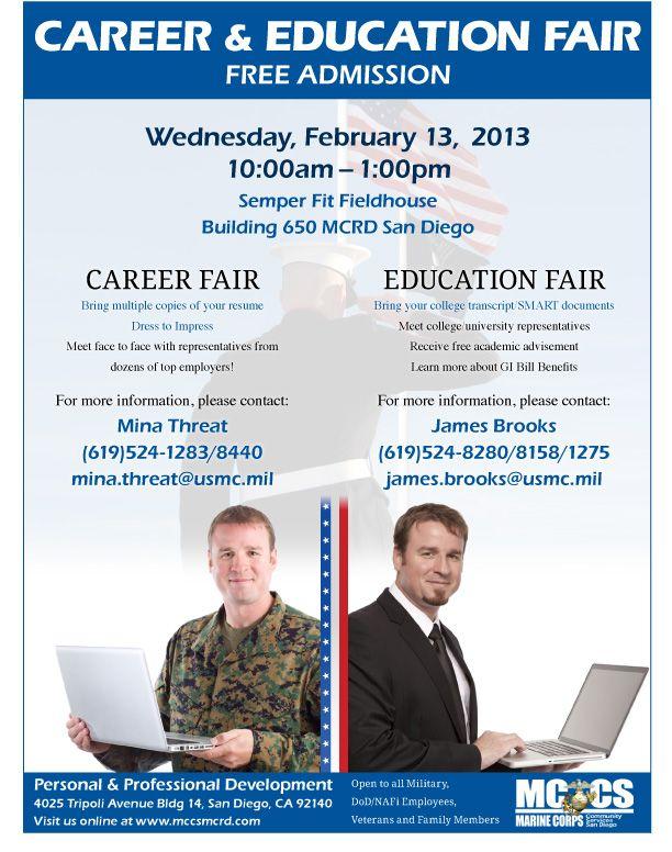 Career Education Fair San Diego Ca February 13 2013