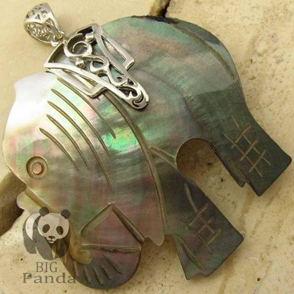 Natrual madre de pearl Pinctada negro Seashell collar de cadena de plata joyería de Shell del mar BK064(China (Mainland))