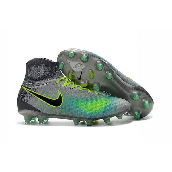 super popular 84aeb 1ffac 2017 Chaussures de Football Nike Magista Obra II FG Vert Gris Noir ...