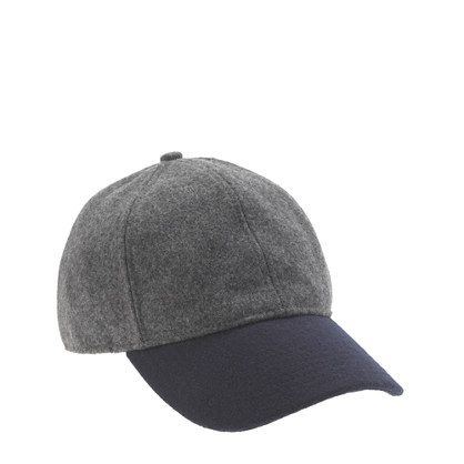 colorblock wool baseball cap  60a97a02723