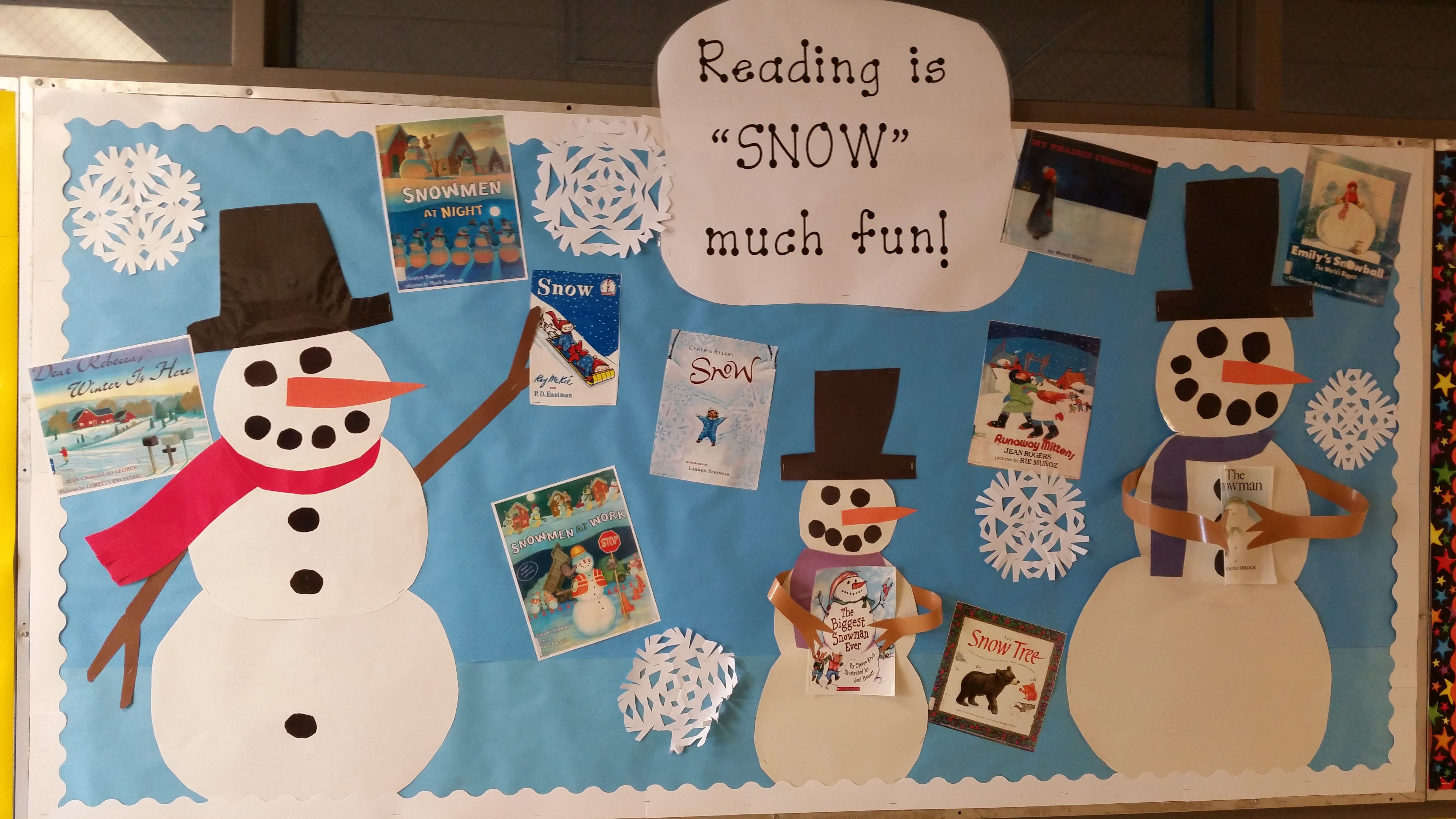 The Snowmen Are Reading Books About Snow Snowmen And