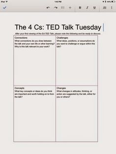 Middle School Mayhem: Analyzing TED Talks | language arts ...