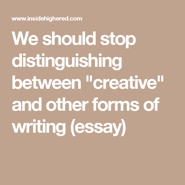 imaginative writing essay