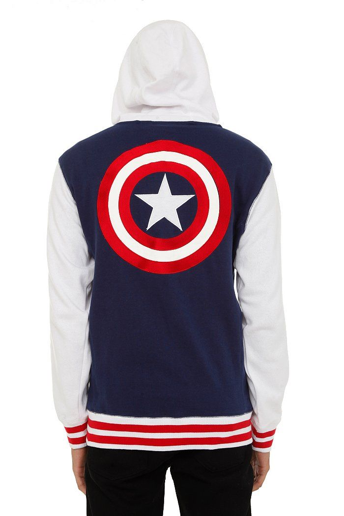 Captain America Hoodies | Hot Topic ~$50: someone, anyone pleassse get this for me!!
