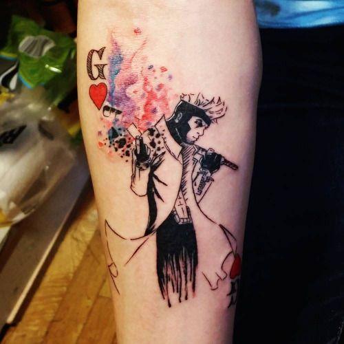 Tatuaje De Gambit Personaje De Los X-Men Situado En El