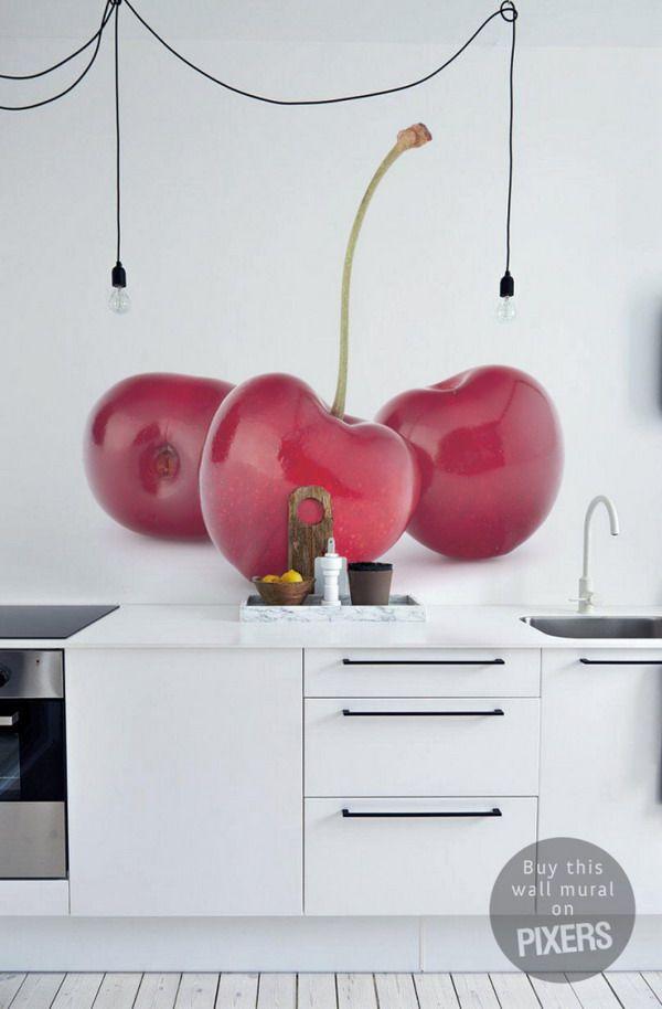 10 fotomurales para la cocina | Cocinas, Pegatinas y Cerezas