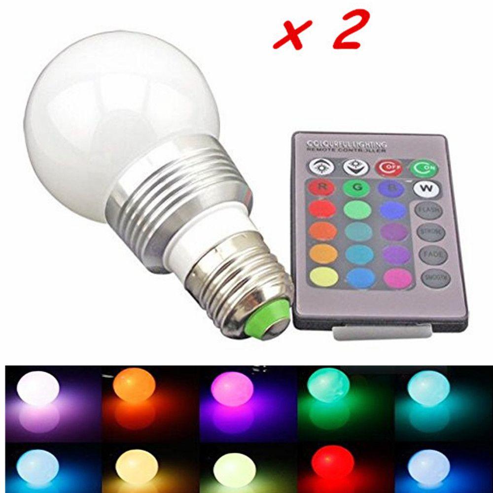 Rgb Led Bulb 85 265v 3w E27 Rgb Led Lamp Bulb 24 Key Ir Remote