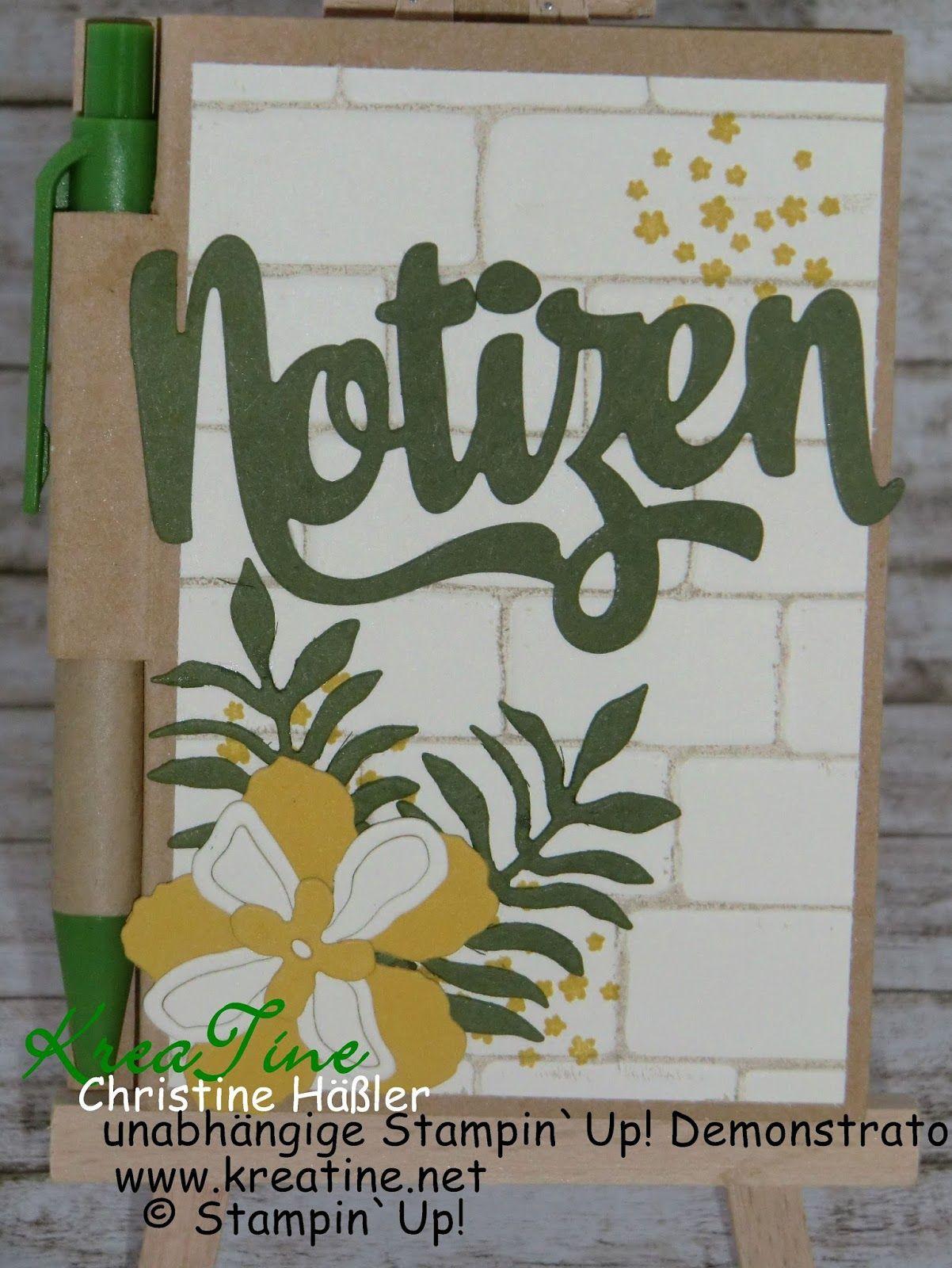 KreaTine: Notizbüchlein Botanischer Garten mit Graffiti-Technik
