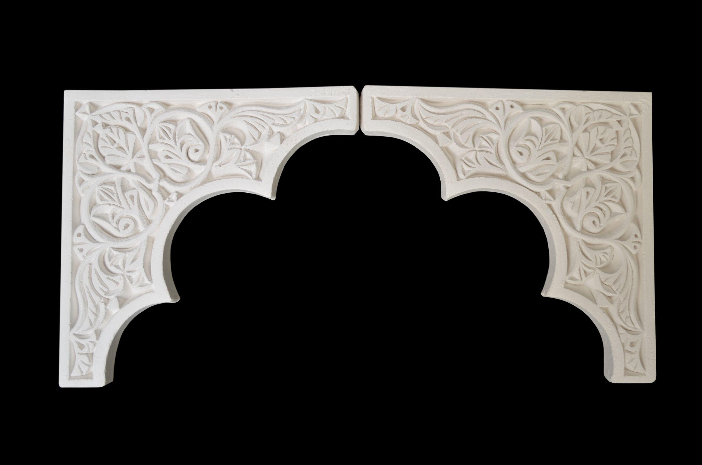 Plaster Gypsum Arch Moroccan Border Carved Doorway Arches