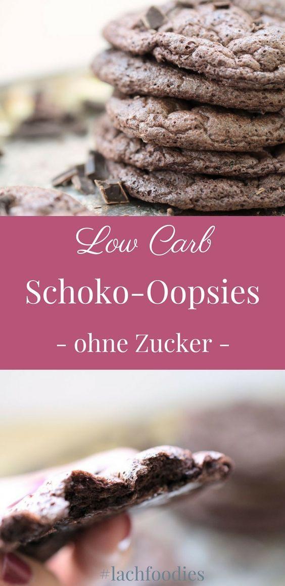 Saftige Schokoladen Oopsies #sugarfreerecipes