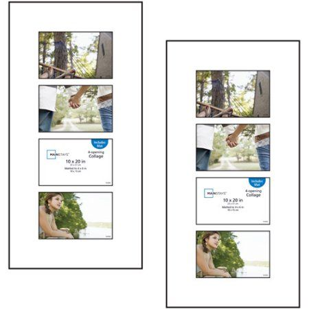 Mainstays 4 Open 4x6 Panel Collage Format Picture Frame Set Of 2