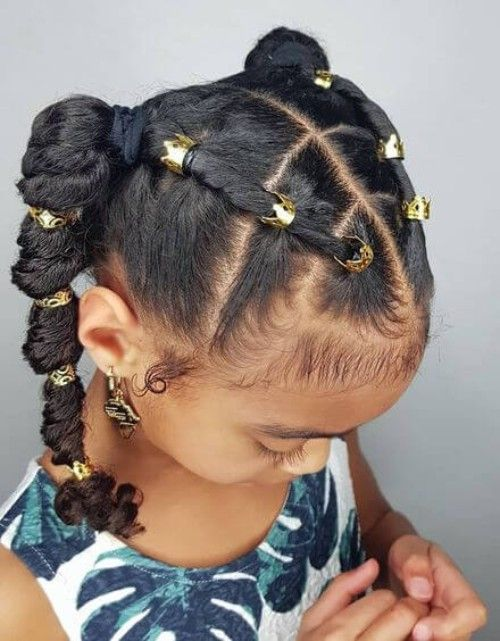 22 Adorable Braids With Beads Hairstyles For Black Kids Lil Girl