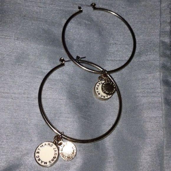 💯Marc By Marc Jacobs Disc Logo Hoop Earrings