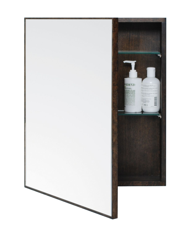 Wireworks dark oak slimline cabinet bathroom cabinets