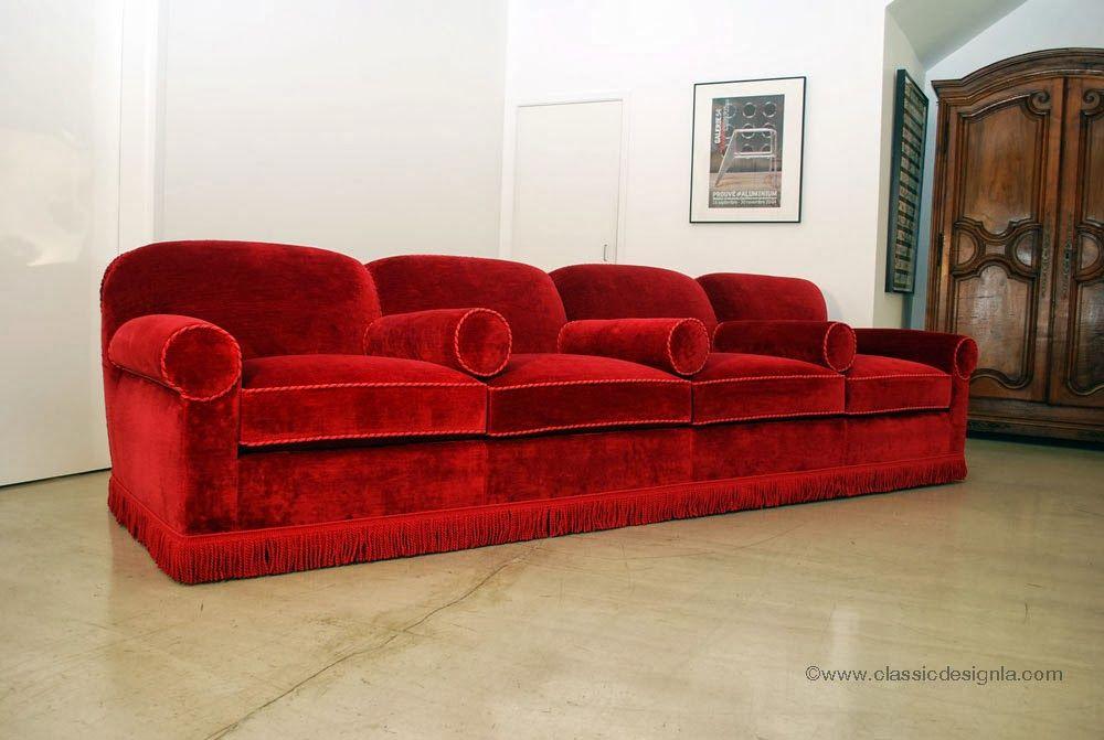 Red Velvet Cinema Style Sofa