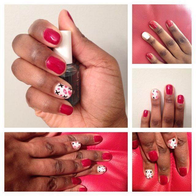 Nails For Dark Skin Swag Nails Valentines Nails Red Nails
