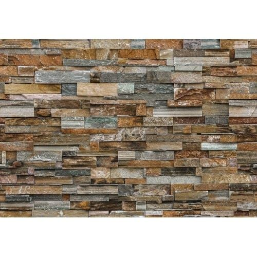 """Brewster DM159 100"""" x 144"""" - Colorful Stone (Grey) - Unpasted Vinyl Coated Paper Mural - 8 Panels"""