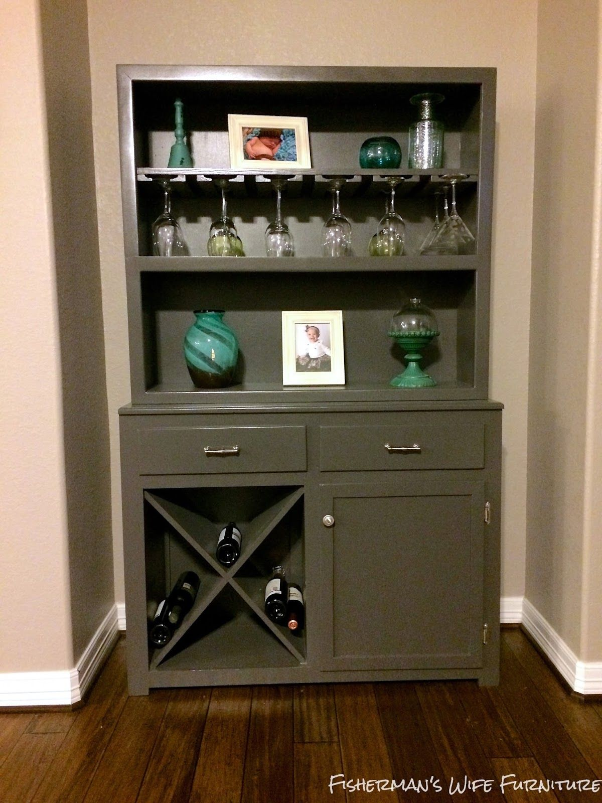 Fisherman S Wife Furniture Hutch To Wine Bar Makeover Hutch