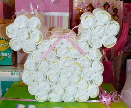 How To Make A Minnie Mouse Shaped Diaper Cake