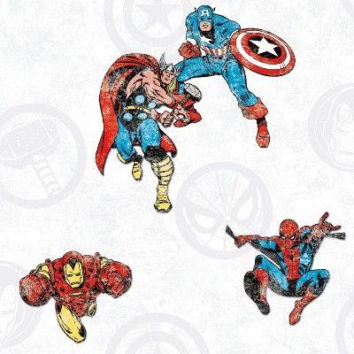 Marvel Avengers Classic Peel Stick Wallpaper Roommates Peel And Stick Wallpaper Peelable Wallpaper Wallpaper
