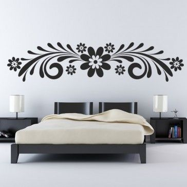 Daisy Floral Flowers Wall Art Sticker Wall Decal   Floral Designs   Floral  U0026 Trees
