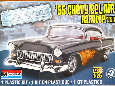Revell Monogram 1 25 55 Chevy Bel Air Hardtop Car Model Kit