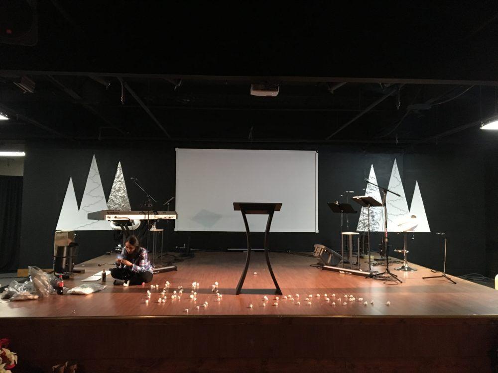 Cotton Christmas Christmas stage, Stage design, Design